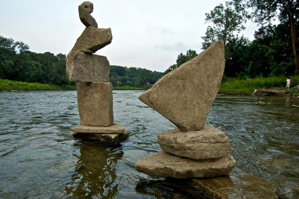 humber river rock balance