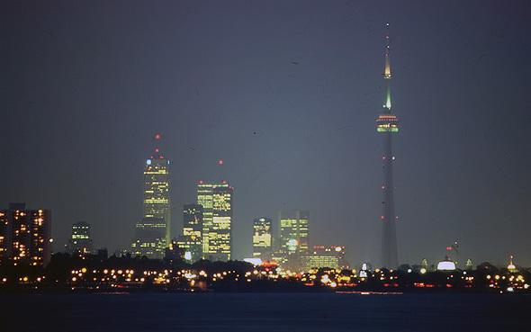 Toronto skyline 1987