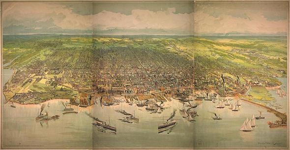 Toronto skyline 1893