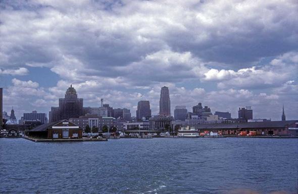 Toronto skyline 1950