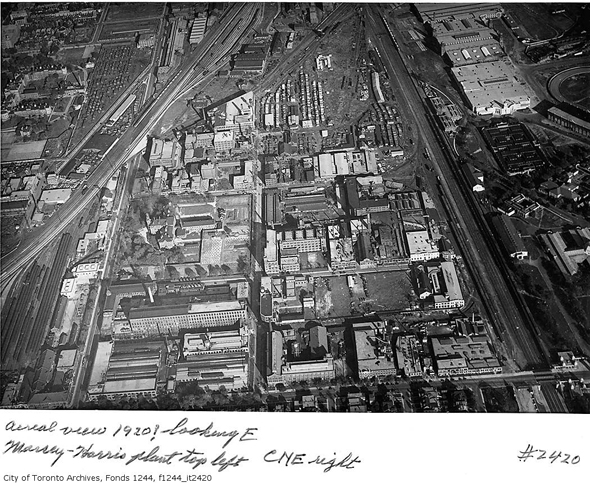 Andrew Mercer Reformatory for Women, Toronto, aerial view, east, 1920