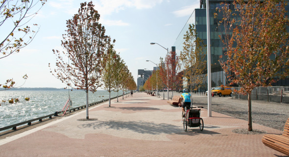 Waterfront Promenade beside Corus Quay