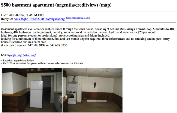 What $500 or less gets you for an apartment rental on ...