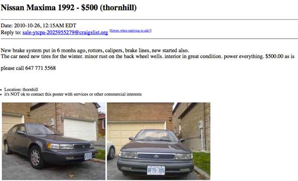 craigslist used car