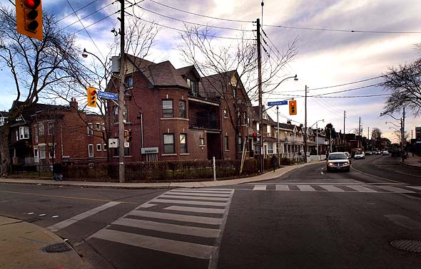 Southeast corner of Wallace and Lansdowne