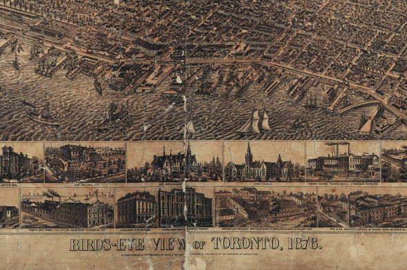 Bird's Eye Map Toronto