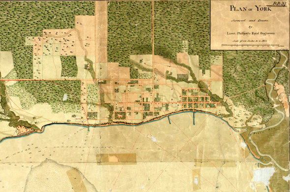 Historical Map of York 1783
