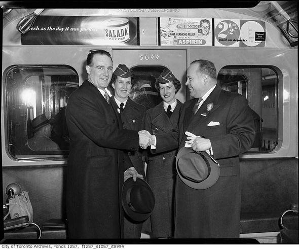 Toronto, Toronto Transit Commission, Toronto subway, Toronto subway, TTC, 1954