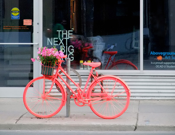 Neon Bike Art project Toronto