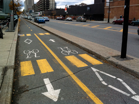 separated bike lanes Toronto