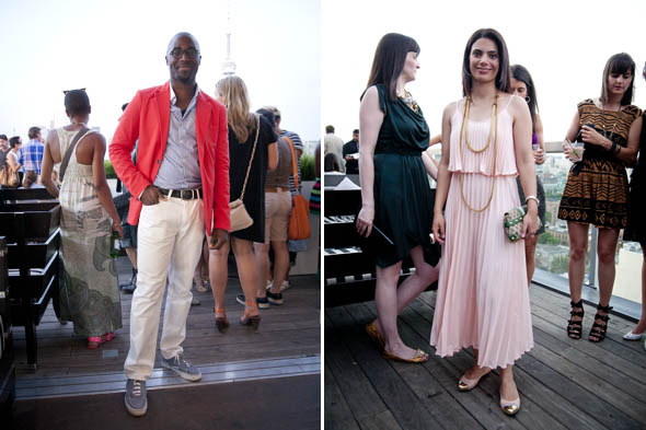 Street Style At The Thompson Hotel Rooftop Patio