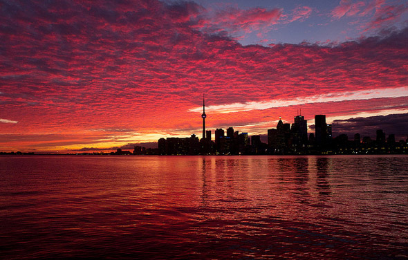 September Sunset Toronto