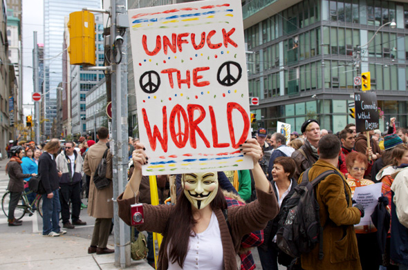 Occupy Toronto Protest