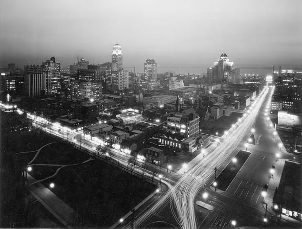 Vintage Toronto Night Photo