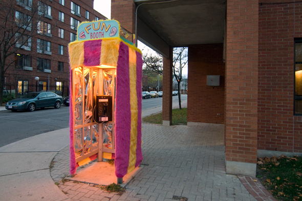 Toronto phone booth fun house