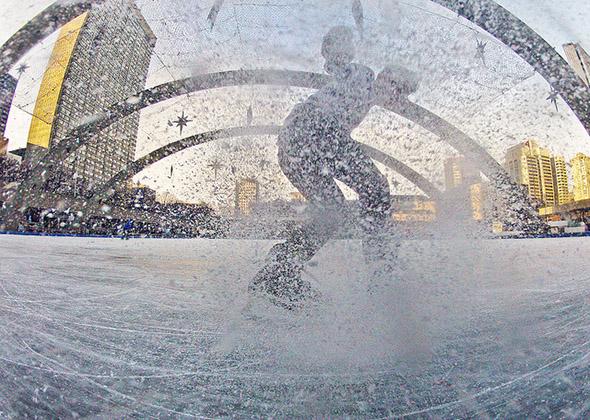 skate, rink, morning