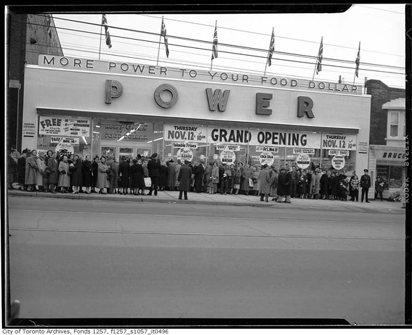 Toronto History grocery stores