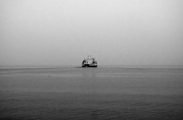 Foggy boat