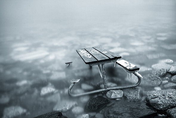 sinking bench
