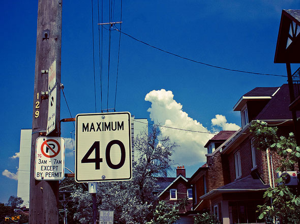toronto speed limit sign