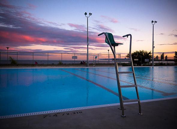 Sunset At Gus Ryder Pool