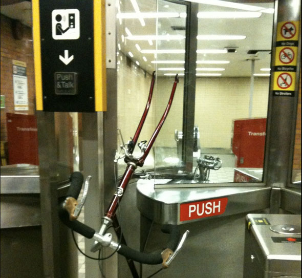 toronto bike ttc turnstile lawrence station