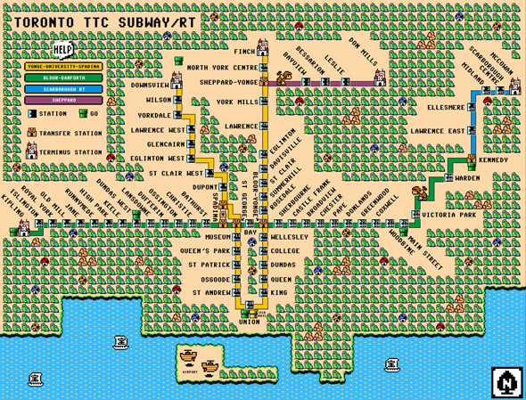 TTC route map mario bros.