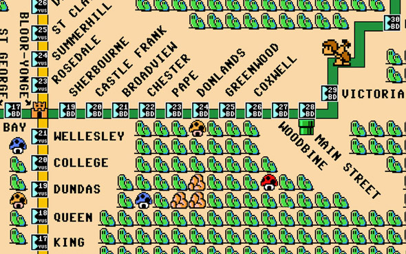 TTC map Mario Bros.