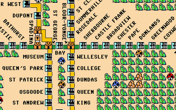 TTC 8-bit map mario bros