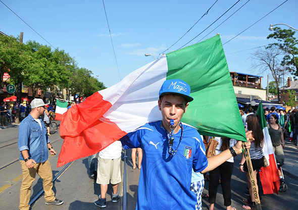 Little Italy Toronto Euro Soccer Celebration
