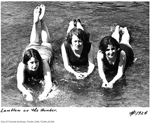 toronto girls women bathing humber