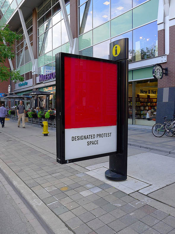 toronto info pillar hack designated protest