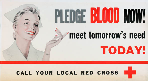 vintage ttc advertisements give blood