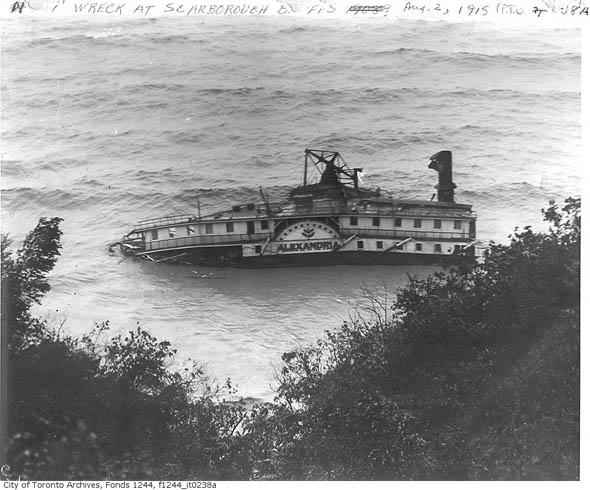 steamer alexandria wreck bluffs