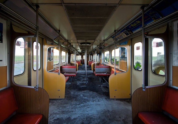 toronto ttc abandoned subway train wilson interior