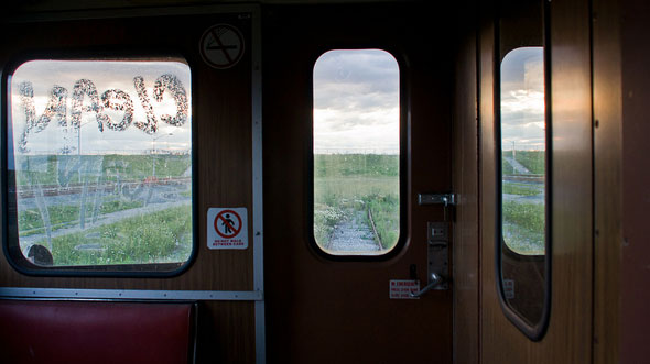 toronto ttc abandoned subway train wilson window