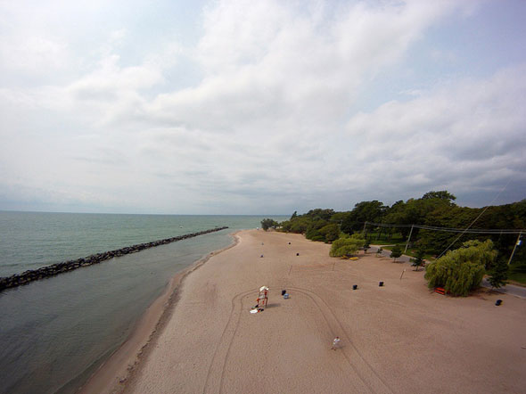 toronto islands beach aerial view