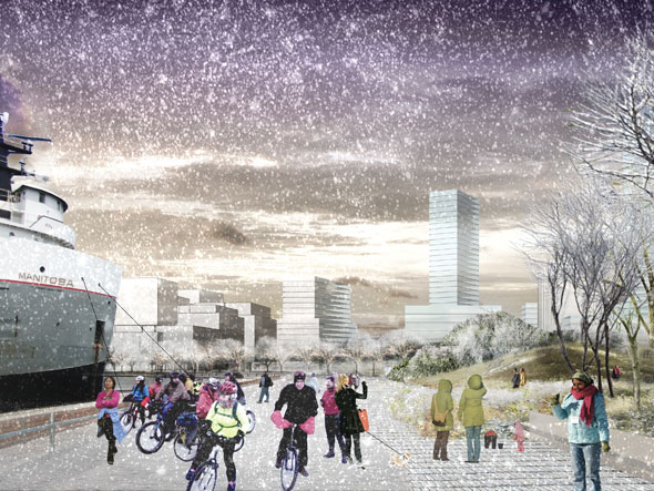 toronto port lands acceleration initiative park winter