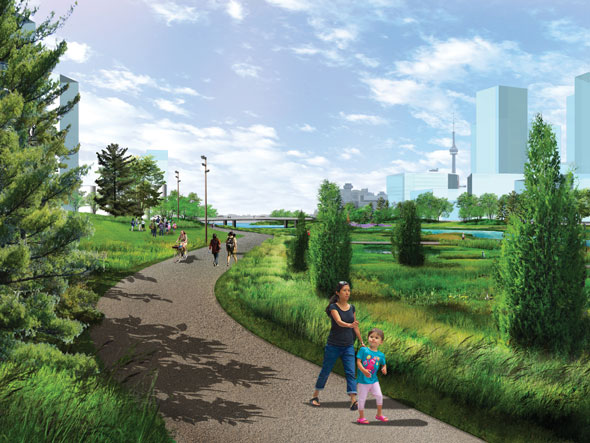 toronto port lands acceleration initiative don river park