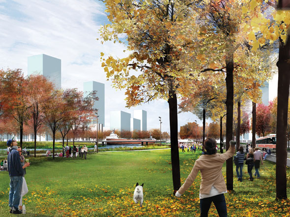 toronto port lands acceleration initiative park fall