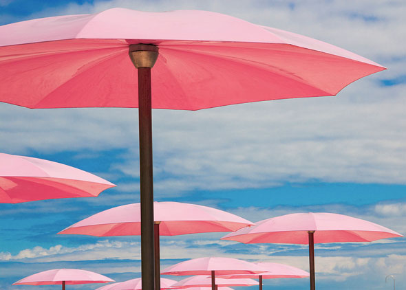 toronto sugar beach waterfront umbrellas