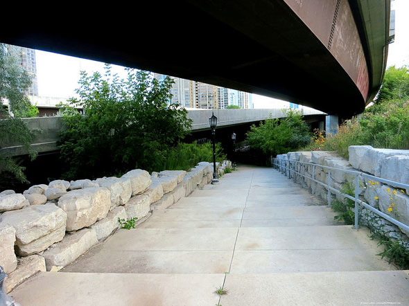 toronto humber bridges underpass path