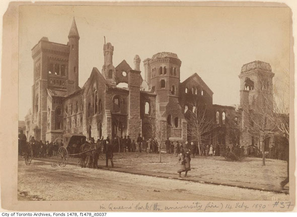 toronto university college fire remains 1800s