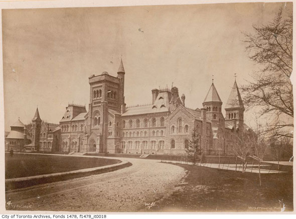 toronto university college before fire 1800s