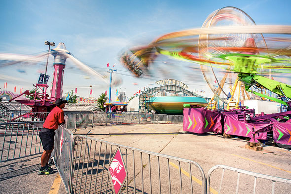 toronto the ex CNE midway rides swings time lapse
