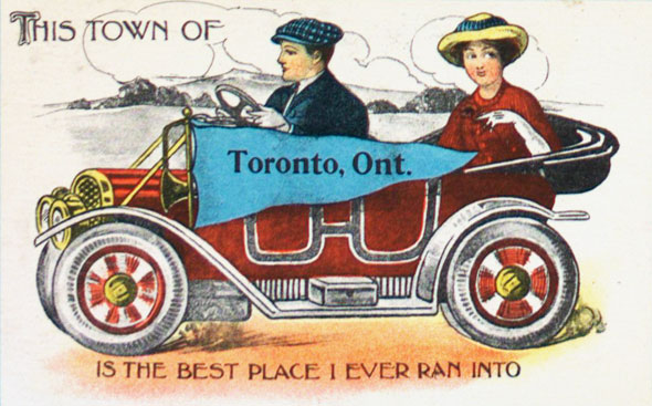 toronto tourism postcards
