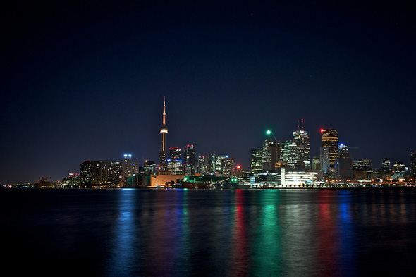 Toronto skyline Polson Pier