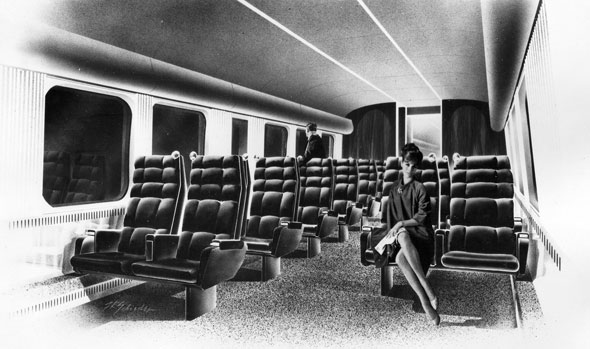 turbotrain interior