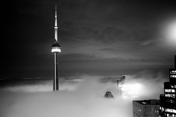 CN Tower Fog