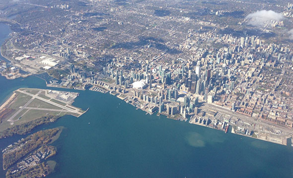 toronto aerial view